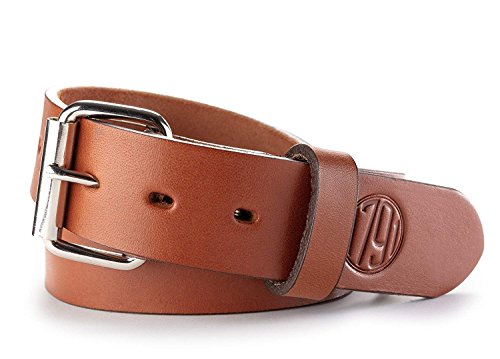 1791 GUNLEATHER Gun Belt - Concealed Carry CCW Belt - Heavy Duty 14 oz Leather Belt (Classic Brown, 52 (Size 48 -