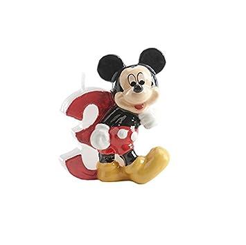 Vela - Número 3 (Mickey Disney - cumpleaños Decoración ...