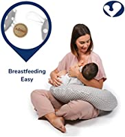 Alpha XXL, Gris Niimo Almohada Embarazo Dormir y Cojin Lactancia Bebe Multifuncion Funda Cojin 100/% Algodon Desenfundable y Lavable Relleno de Poliester Multiusos Maternidad