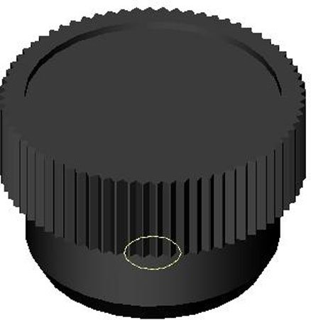 1 Each 1//4-20 thds. Black Phenolic Knurled Plastic Knobs w//Inch Brass Insert 3//4 dia. Black ABS
