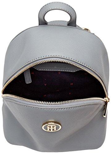 Tommy Hilfiger Honey Micro Backpack Crossover, Borsa a Tracolla Donna, 7.5x20x17.5 cm (W x H x L) Grigio (Sharkskin)