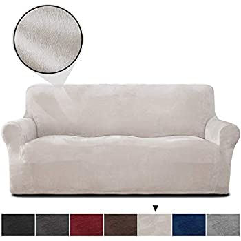 Amazon.com: Subrtex 2-Piece Jacquard High Stretch Slipcover ...