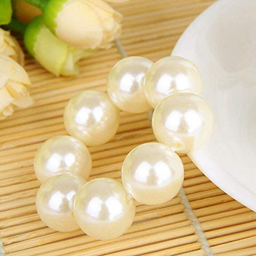 Accessories Hair Jewelry Women Fashion Colorful Simulated Faux Pearl elasticity (Color - White)