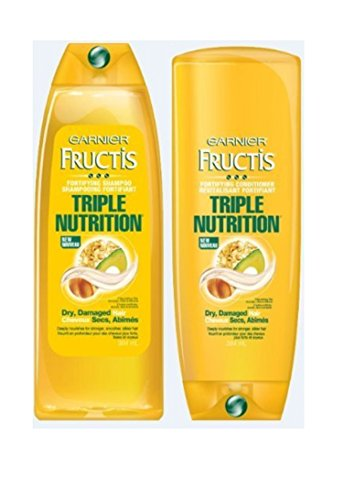 Garnier Triple Nutrition Shampoo and Conditioner Set, 13 Oun