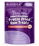 Image of Freeze Dried Salmon Filet Treats for Dogs & Cats - with Pure Raw & Wild Caught Pacific Sockeye Salmon Fish - Omega 3 EPA + DHA Fatty Acids for Joint & Immune Support + Skin & Coat Health - 4.4 OZ