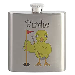 CafePress - Birdie - Stainless Steel Flask, 6oz Drinking Flask