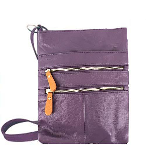 Silver Fever KP011, Sac pour Femme à Porter à l'épaule Vert Vert Olive Taille Unique Purple 2t