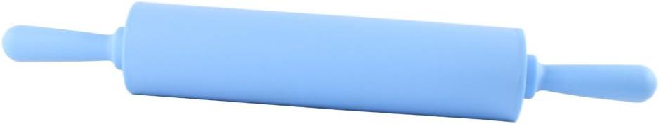 12 pulgadas para no pegarse Masa Palo de amasar Dianoo Rodillo De silicona de grado alimenticio Masa Palo de amasar Azul