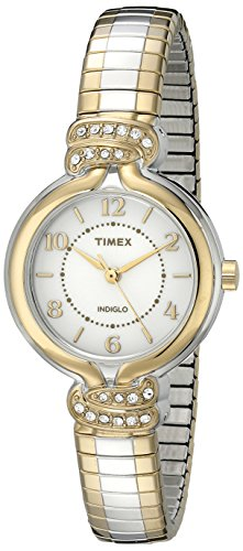 Timex Women's TW2P612009J Main Street Collection Analog Display Quartz Two Tone Watch