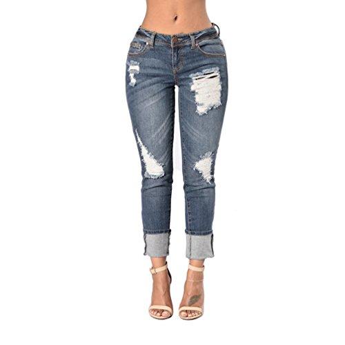 S Levanta Denim elasticos TieNew up claro vaqueros XL Azul vaqueros de azul cola Push talla colombian pantalones pantalones mujer color 0waqaxgP