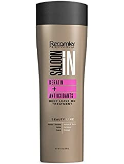 Recamier SalonIn Keratin Deep Leave On Treatment+ ANTIOXIDANTS | Crema de peinar para el cabello sin