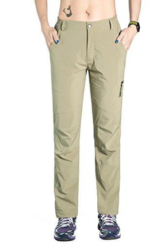 Nonwe Women's Outdoor Breathable Quick Dry Jogger Pants Khaki L/30.5