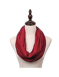 MissShorthair Lightweight Plain Solid Infinity Scarfs for Women