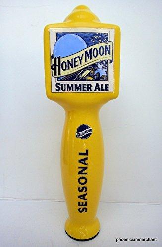 Blue Moon Summer Ale Ceramic Large 3 Sided Pub Beer Keg Tap Lever Knob Handle - Ale Tap Knob
