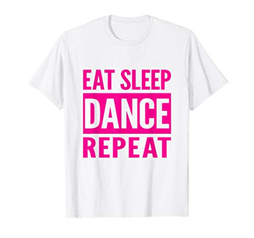 Dance Shirt Eat Sleep Dance Repeat Funny Dancer Gift - Swing Square Dance