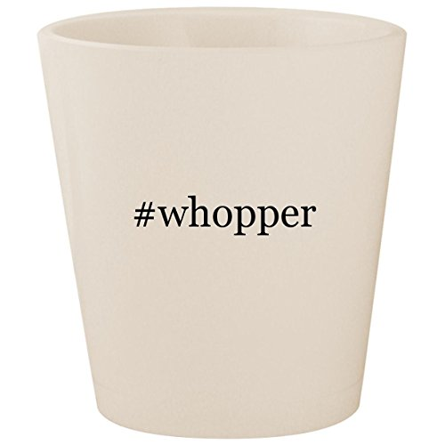 #whopper - White Hashtag Ceramic 1.5oz Shot Glass