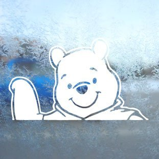 Aufkleber / Autoaufkleber / Sticker / Decal WINNIE POOH DISNEY White Decal  Car Window Laptop White Sticker