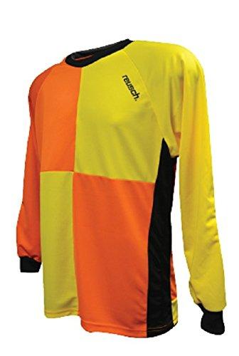Reusch Goalkeeper Jersey (Reusch Soccer Harlequin Goalkeeper Jersey, Yellow/Orange, Youth Medium)