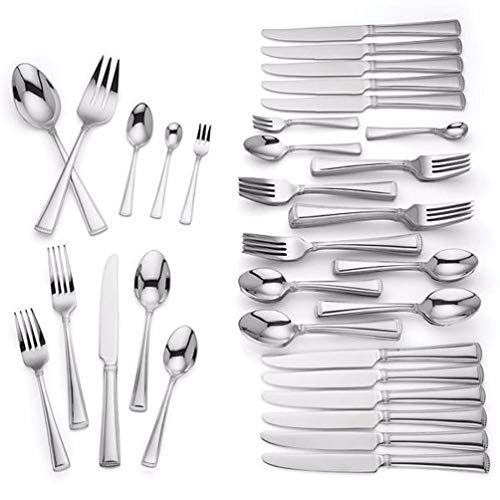 Reed & Barton Bucks County 74 PC Flatware Set 18/10 Stainless Service For 12