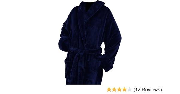 Amazon.com  Plush Microfiber Navy Blue Full Customizable Monogrammed  Bathrobes Christmas Gifts Her Him  Home   Kitchen 7524e503f