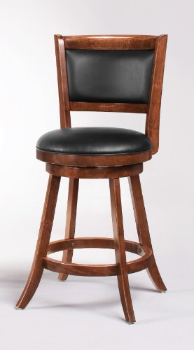 Coaster Espresso Swivel Bar Stool Set of 2/24″ High For Sale