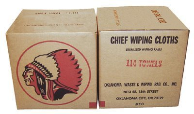 Rags 118-10 Oklahoma Waste and Wiping Rag Colored Knit Light Weight Rags, 10lbs Carton (Pack of 10)