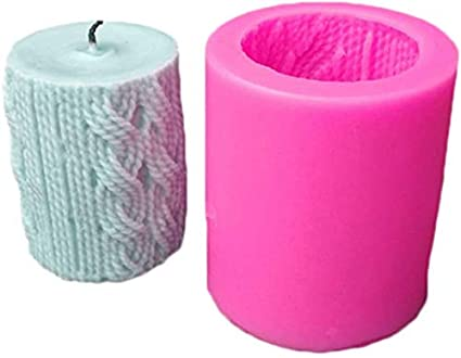 3D Candle Molds Pillar Silicone Soap Mold Wool Ball DIY Craft Handmade Wax Mould