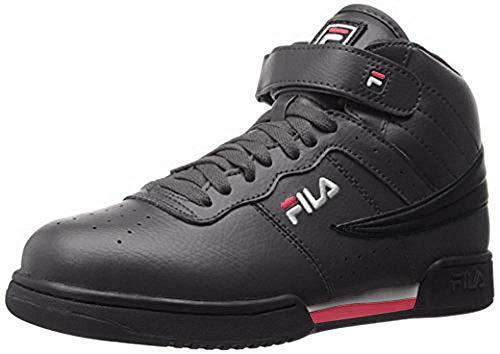 Fila Men's f-13v lea/syn Fashion Sneaker, Black/White Red, 8 M US from Fila