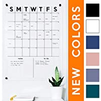 Acrylic Calendar Dry Erase Calendar for Wall, Clear Acrylic Monthly Wall Mounted Calendar