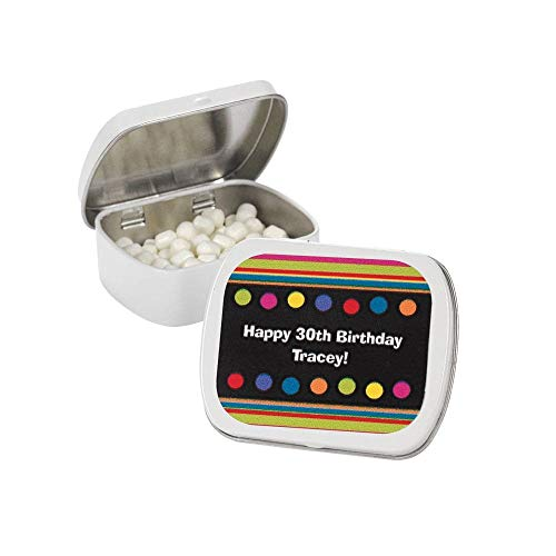 Personalized Birthday Tins - Personalized Milestone Birthday Mint Tins