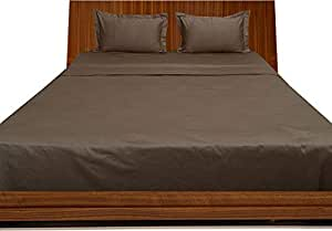 Brightlinen Mocha King (150 X 200 Cm) Sheet Set Solid(pocket Size: 42 Cm) 4pcs