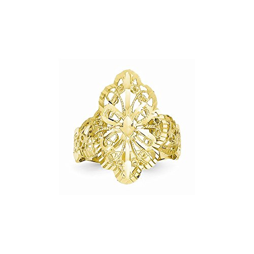 14K Dia-Cut Filigree Ring