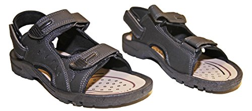 Velcro Kengät Steppi Man Naarmu Sandaalit Tekonahka Kiikun Musta qRpg11