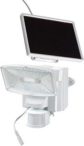 Brennenstuhl 1170850  Éclairage Solaire Lampe LED Solaire Sol 80 Plus IP44 avec détecteur de mouvements infrarouge blanc