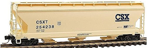 Acf Covered Hopper - Micro Trains N 09400060: 3-Bay ACF Covered Hopper, with Elongated Hatches, CSXT #254238 (N Scale)