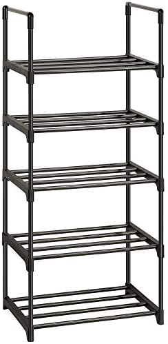 Shoe Rack, Sturdy Metal Shoe Rack Organizer,Narrow Shoe Rack,Shoe Racks for Closets,Shoes Rack,Shoe Stand,Shoe Shelf (5 Tier)