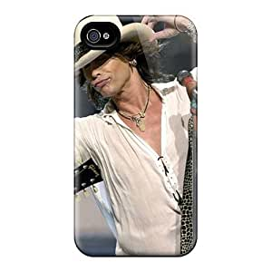 Excellent Hard Cell-phone Cases For Iphone 4/4s (BEV17527LGJp) Unique Design Realistic Aerosmith Band Pictures