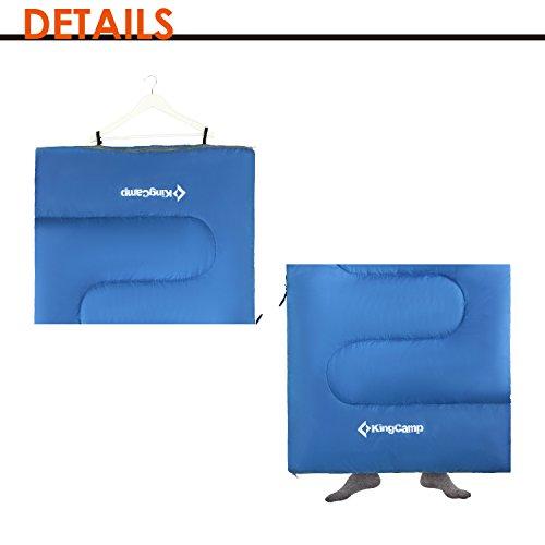 KingCamp Envelope Sleeping Bag 4 Season Lightweight Comfort With Compression Sack Camping Backpack 26F 3C