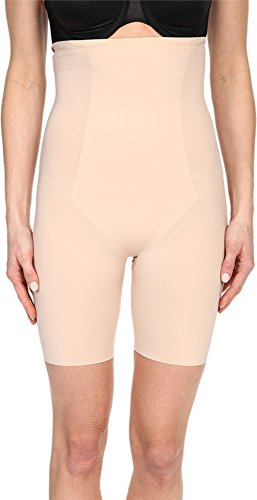 SPANX Women's Thinstincts¿ High-Waisted Mid-Thigh Short Soft Nude Medium