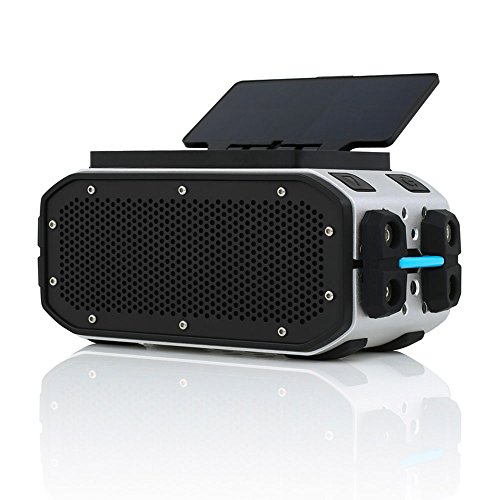 Braven BRV-PRO+SOLAR Bluetooth Speaker - Silver/Black