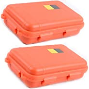 ZffXH Outdoor Shockproof Storage Box Waterproof Case Protective Container 2 pcs