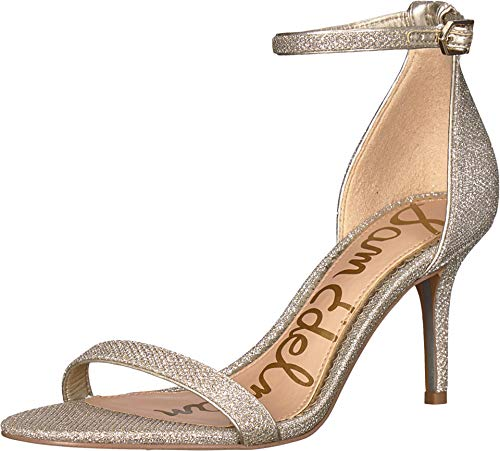 (Sam Edelman Women's Patti Strappy Sandal Heel Jute Glam Mesh 9 W US)