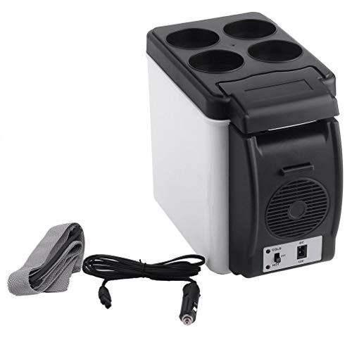 Ljnuanrg Portable Car Refrigerator - Compact Personal Fridge 12V 6L Car Mini Freezer Portable Thermoelectric Cooler Warmer Travel Refrigerato for Truck Party, Travel, Picnic (Black)