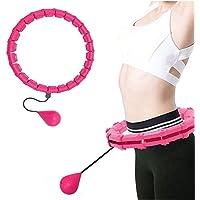 Core & Buik Trainers Gewogen Smart Hula Hoop voor Volwassenen en Kinderen Oefenen, 2 in 1 Buik Fitness Gewichtsverlies…
