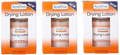 AcneFree Drying Lotion (3 pack of 1oz bottles) by AcneFree