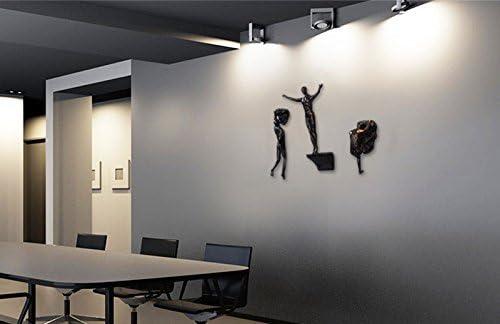 ZZ Lighting Unique Resin Made Climbing Man Wall Art Home Decor Sculpture Black Set