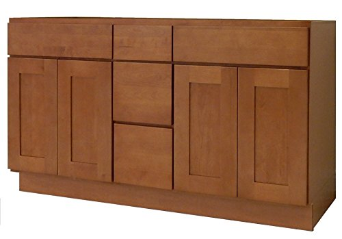 NGY HS-6021DD Vanity Cabinet Maple Wood, 60