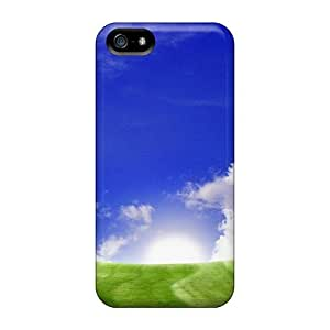 VZkDRsY6545PkSYX Case Cover, Fashionable Iphone 5/5s Case - Sunrise Over A Green Field Nature