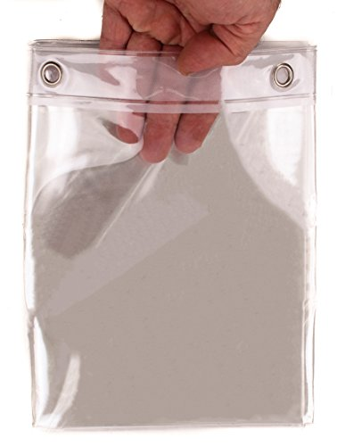 Elegant Home Heavy Duty Vinyl Shower Curtain Liner with 12 Metal Grommets DPC-Clear
