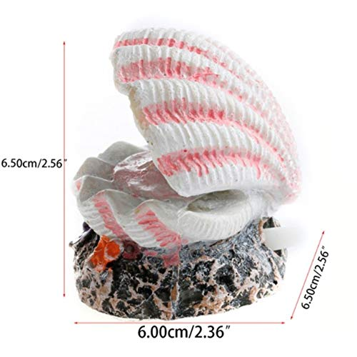 Pukido JU Fish Tank Accessories Air Pump Ornaments Aquarium Fish Tank Decorating Bubble Coral Volcanic Pearl Shell Aquarium Accessories - (Color: Bubble Pearl Shell, Size: S) ()
